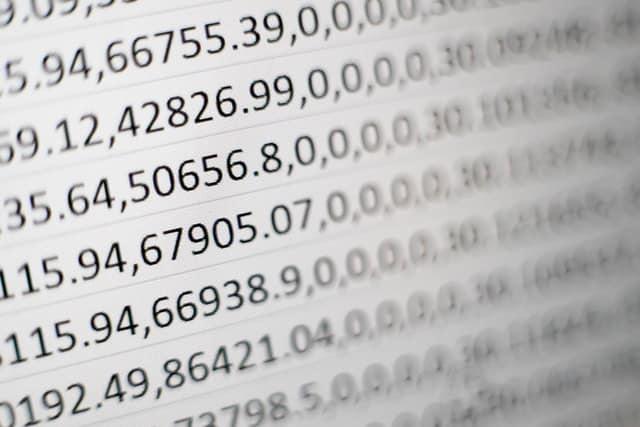 לוח עם מספרים - אילוסטרציה